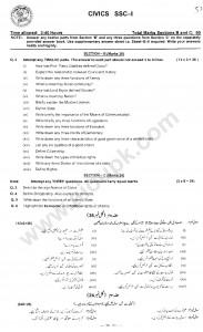 Civics Old Model Papers of Federal Board 9th Class 2015