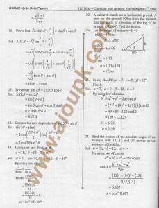 DAe answers of mathematics code 123