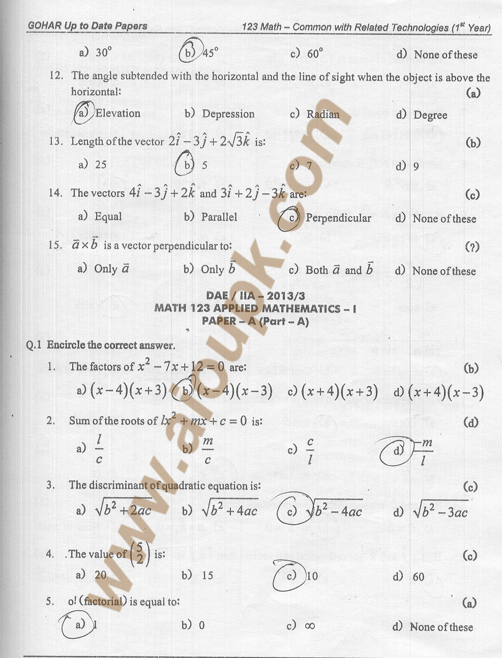intermediate 1 maths past paper questions Students can check 11th class mathematics past papers on this page.