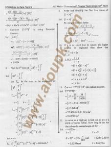 Applied mathematics Code 123
